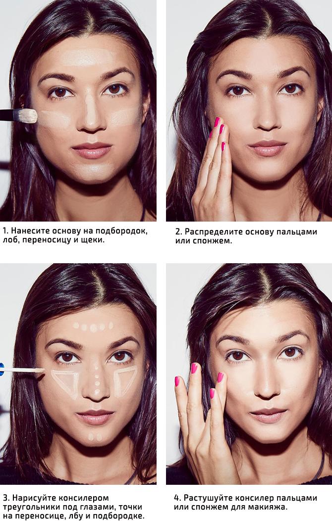 Как правильно наносить тональный крем на лицо – пошагово с фото