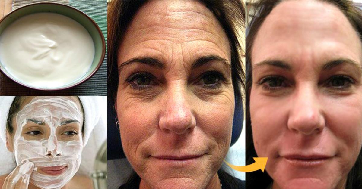 Сметанная маска для лица фото до и после