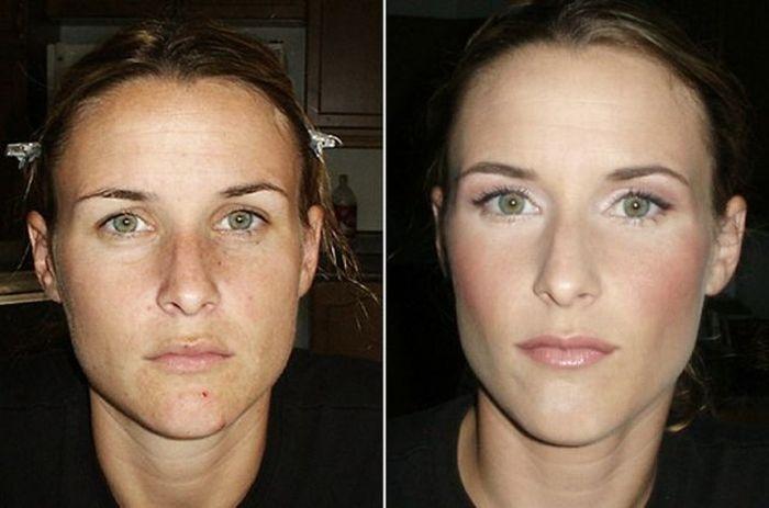 Результаты после крема для лица