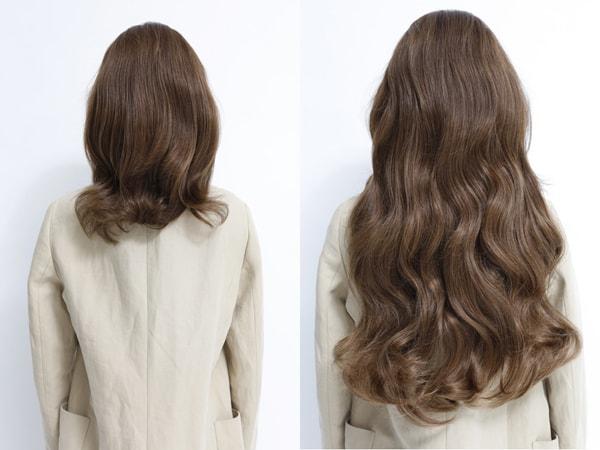Фото до и после применения маски Princess Hair