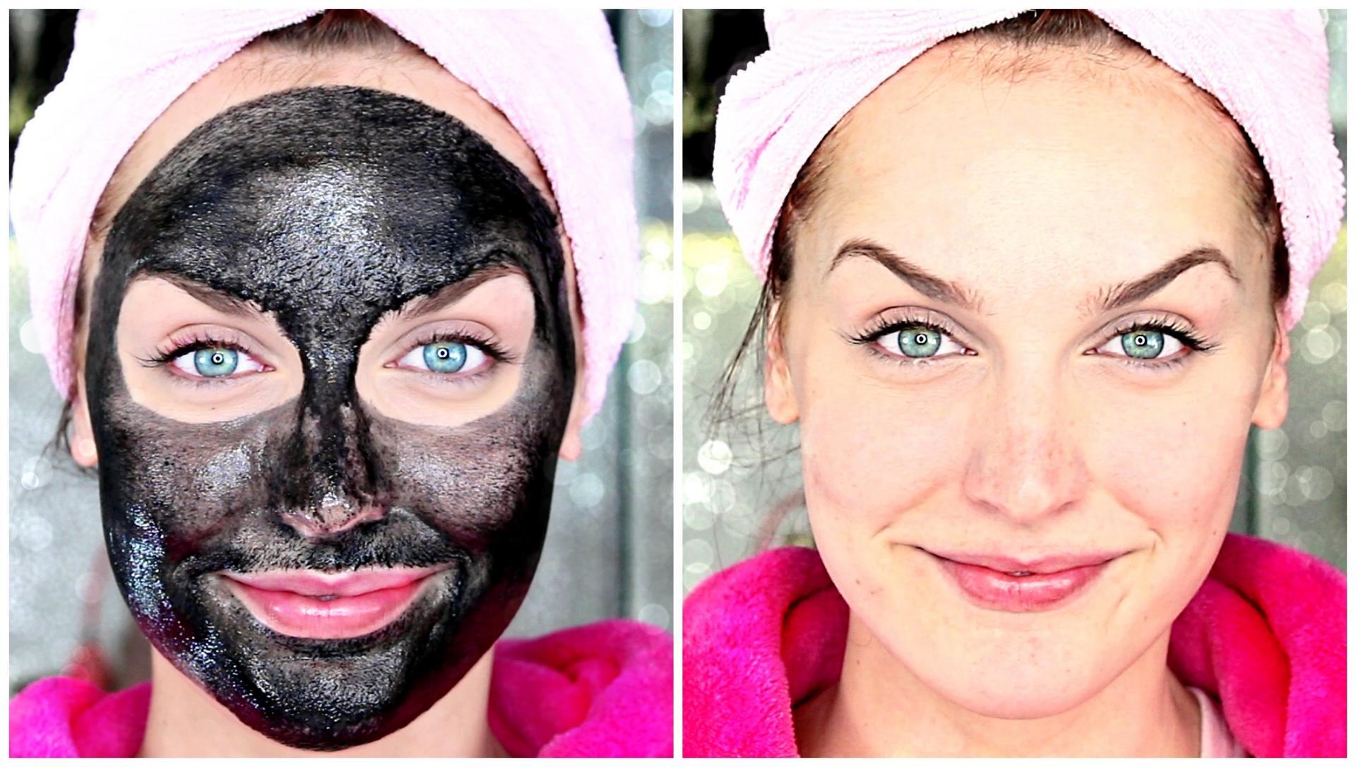 Фото до и после черной маски