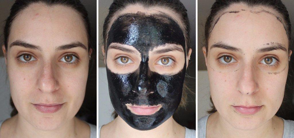 Отзывы на чёрную маску-плёнку для лица
