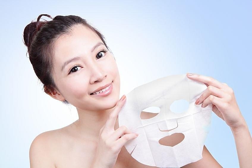 использование тканевой маски