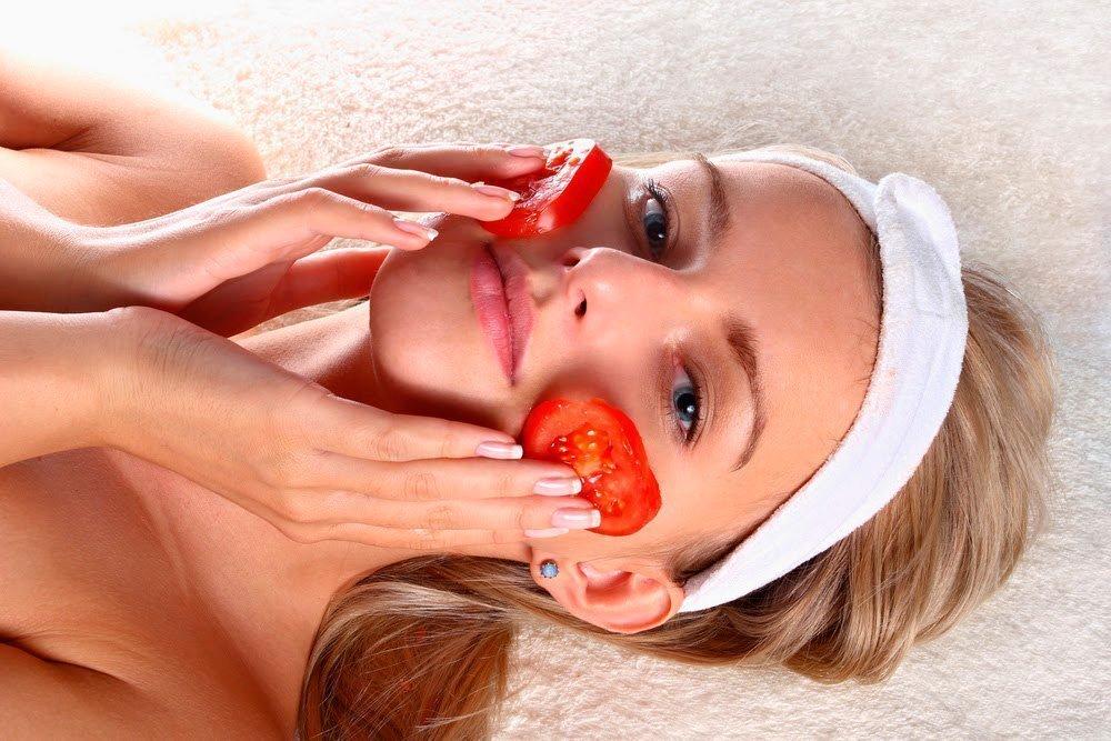 Маски на лицо из помидора