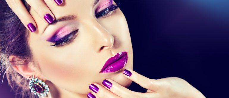 помада фиолетового оттенка